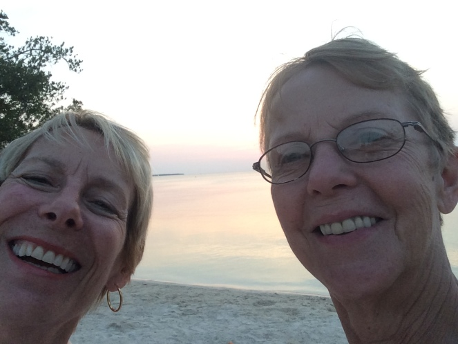 pat and donna at sunset