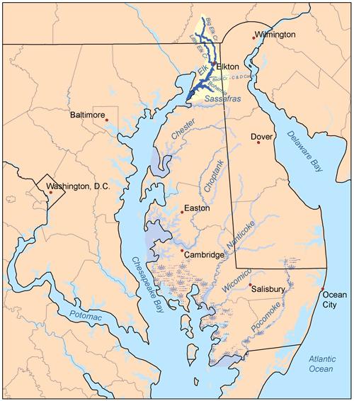 chesapeake and bohemia and deleware